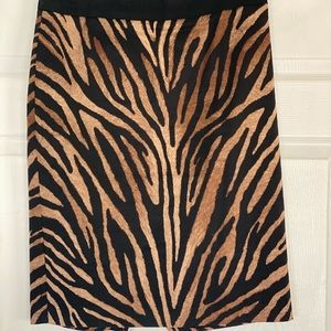White House Black Market tiger, pencil skirt